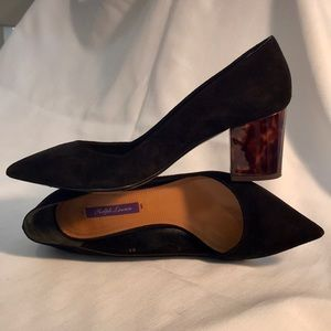 Ralph Lauren / Purple Label / Black Tort Heels